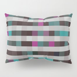 pixels pattern with colorful squares and stripes Pillow Sham