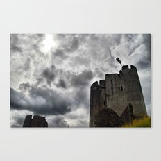 Caerphilly Castle Wales 3 Canvas Print