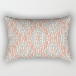 Tribal Diamond Pattern in Peach, Tan and Gray Rectangular Pillow