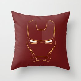 iron man face Throw Pillow