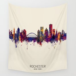 Rochester New York Skyline Wall Tapestry
