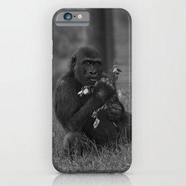 Cheeky Gorilla Lope Mono iPhone Case