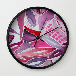 Bottle of Red Design 5 Wall Clock