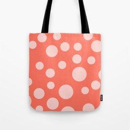 Living Coral Polka Dot Party Tote Bag