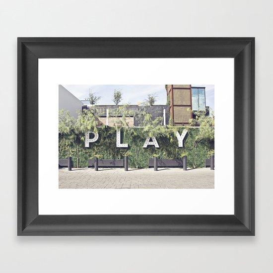 P L A Y  Framed Art Print