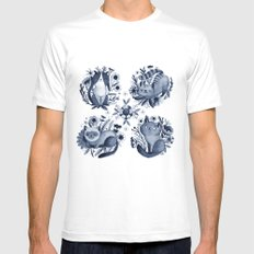 CATS White MEDIUM Mens Fitted Tee