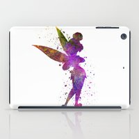 tinker bell iPad Cases featuring Tinker bell in watercolor by Paulrommer