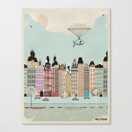 Visit Amsterdam Canvas Print