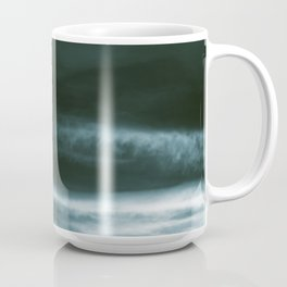 BLACK & BLUE & WHITE TOUCHING #3 #abstract #decor #art #society6 Coffee Mug