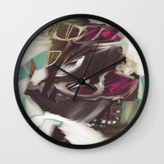 Abstract winter mountain landscape Wall Clock