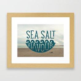 SEA SALT FLAVOUR Framed Art Print