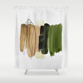minimalism 6 Shower Curtain