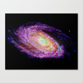 Glitch Galaxy Canvas Print