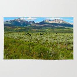 Colorado cattle ranch Rug