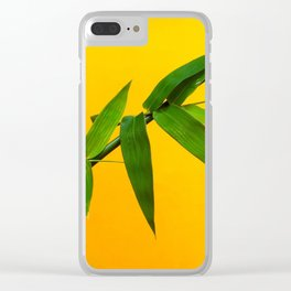 Bamboo Leaves Clear iPhone Case