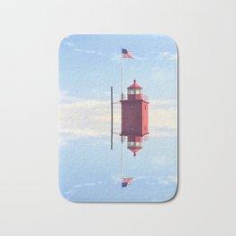 Twin Lighthouses Bath Mat