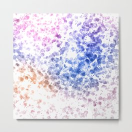 Colorful Watercolor Spots Metal Print