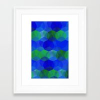 polygon Framed Art Prints featuring Polygon by ArtsyWorks