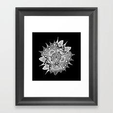 Mandala Etoiles Framed Art Print