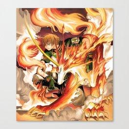 Tsubasa and Kudan fan art Canvas Print