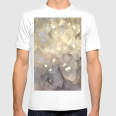crystal2 White MEDIUM Mens Fitted Tee