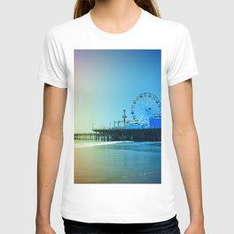 Santa Monica Pier Rainbow Colors LGBTQ Gay Pride T-shirt