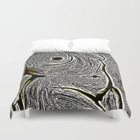 camo Duvet Covers featuring Camo by Helen Syron