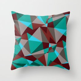 Triangle cubes Throw Pillow