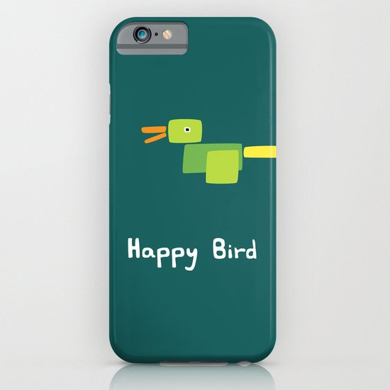 Happy Bird-Green iPhone & iPod Case