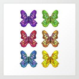 Bejeweled Butterflies Art Print