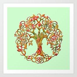 Tree of Life Orange Art Print