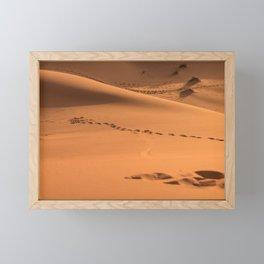 Desert Trek III - Sahara, Morocco Framed Mini Art Print
