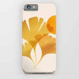 Abstraction_SUN_Ginkgo_Minimalism_001 iPhone Case