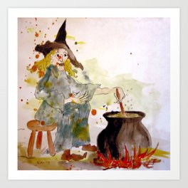 A Witch called Zee Art Print