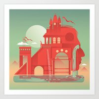 team fortress Art Prints featuring Fortress by Six Foot Giraffe