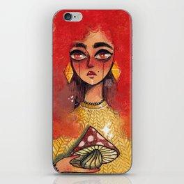 Golden mushroom iPhone Skin