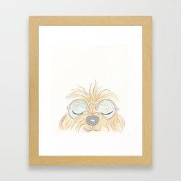 Woof You Groovy Dog Framed Art Print