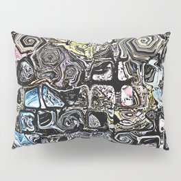 Distorted Shapes And Text Pillow Sham