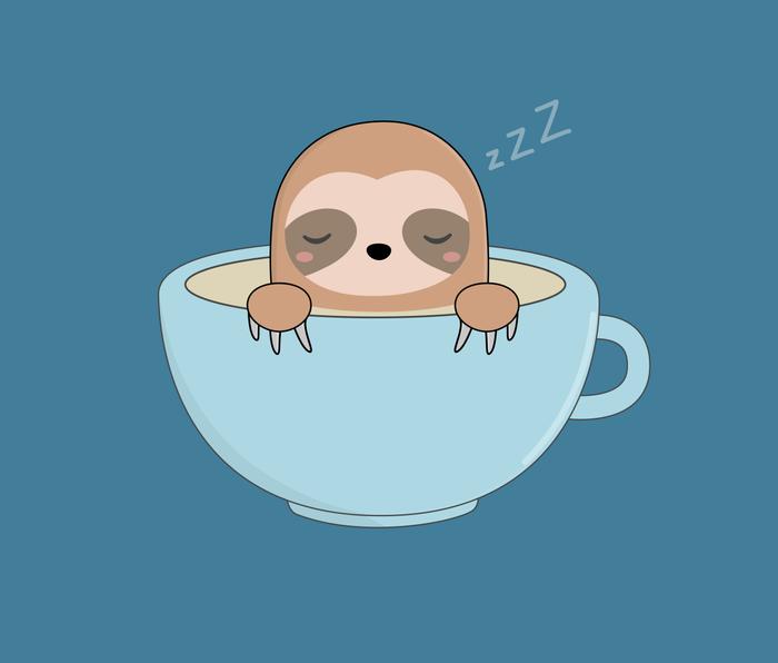 Cute Kawaii Baby Sloth Metal Travel Mug
