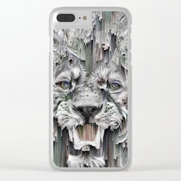 Lion in the night Clear iPhone Case