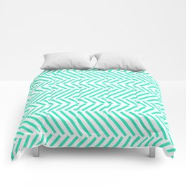 Turquois Pattern Comforters