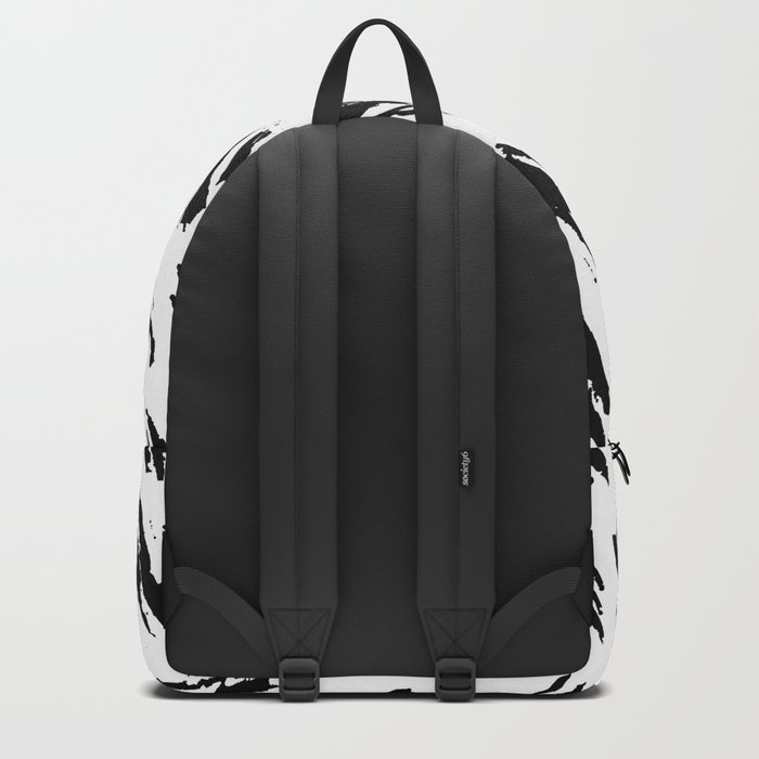 Polka Splotch Black Ink on Paper Backpack