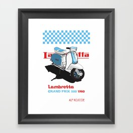 BLUE LAMBRETTA SCOOTER Framed Art Print