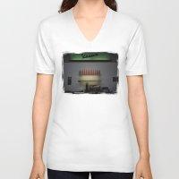 bar V-neck T-shirts featuring Vespa Bar by Rainer Steinke