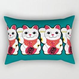 Maneki-Neko Japanese Lucky Cat Rectangular Pillow