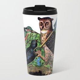 Vintage Owl with Shovel Travel Mug