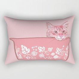 Cat in Bowl #1 Rectangular Pillow