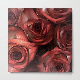 Vampire Gothic Scarlet Blood Red Roses Metal Print