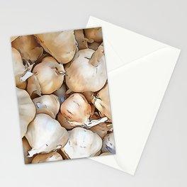 Garlic bulbs Stationery Cards
