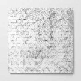 Ink Stitch: White Howlite Metal Print